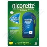 Nicorette mint 4mg 20 lisovaných pastilek
