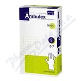 Ambulex rukavice latexové jemně pudrované S 100ks