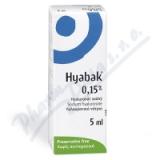 Hyabak 0. 15% oční kapky 5ml