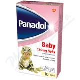 Panadol Baby čípky 125mg  10x125mg