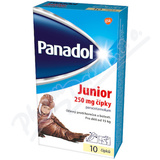 Panadol Junior čípky 250mg 10x250mg