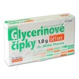 Glycerinové čípky 1. 0g dětské 12 čípků Dr. Müller