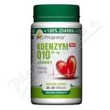 Koenzym Q10 Forte 60mg +Vitamín E tob. 30+30 Bio-Ph