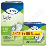 Inkontinentní vložky TENA Lady Slim Mini +50% navíc 760293