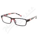 Brýle čtecí +2. 50 UV400 černo-květinové