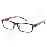 Brýle čtecí +1. 50 UV400 černo-květinové