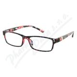 Brýle čtecí +1. 00 UV400 černo-květinové