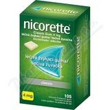 Nicorette Classic Gum 4mg  105 žvýkaček bez cukru
