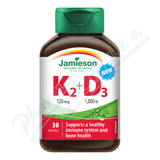 JAMIESON Vitamíny K2 120mcg a D3 1000 IU cps. 30