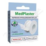 MedPlaster Náplast papírová cívková 5mx1. 25cm
