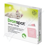 Dronspot 30mg/7. 5mg malé kočky spot-on 2x0. 35ml