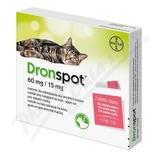 Dronspot 60mg/15mg střední kočky spot-on 2x0. 7ml