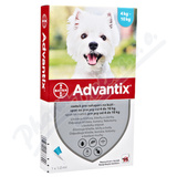 Advantix pro psy spot. on. od 4 do 10kg a. u. v. 4x1ml