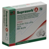 Krytí Suprasorb A+Ag 5x5cm sterilní 10ks