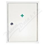 Lékárnička - bílá dřevěnná nástěnná 42x33x14 - prázdná