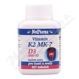 MedPharma Vitamin K2 MK-7+D3 1000 IU tob. 107