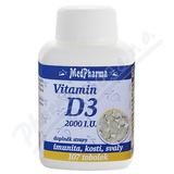 MedPharma Vitamin D3 2000 I. U.  tob. 107