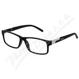 Brýle čtecí +1. 50 černé s kovovým doplňkem FLEX
