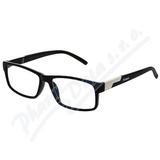 Brýle čtecí +3. 50 černé s kovovým doplňkem FLEX