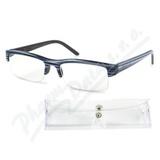 Brýle čtecí +3. 50 modro-černé s pouzdrem FLEX