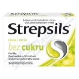 Strepsils Citron bez cukru 24 pastilek