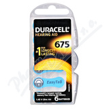 Baterie do naslouch. Duracell DA675 Easy Tab 6ks