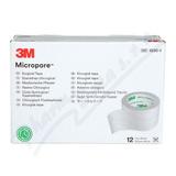 3M Micropore papír. náplast bílá 2. 5cmx9. 15m 12ks
