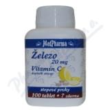 MedPharma Železo 20mg+vitamín C tbl. 107