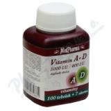 MedPharma Vitamín A+D (5000 I. U. /400 I. U. ) tob. 107