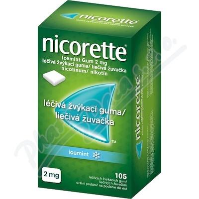 Nicorette Icemint Gum 2mg 105 žvýkaček bez cukru