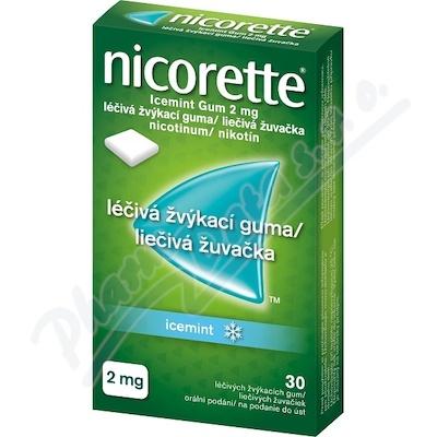 Nicorette Icemint Gum 2mg 30 žvýkaček bez cukru