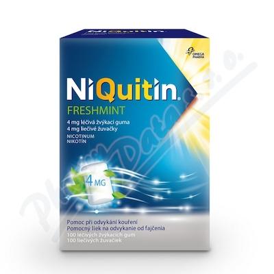 NiQuitin Freshmint 4 mg 100 žvýkaček