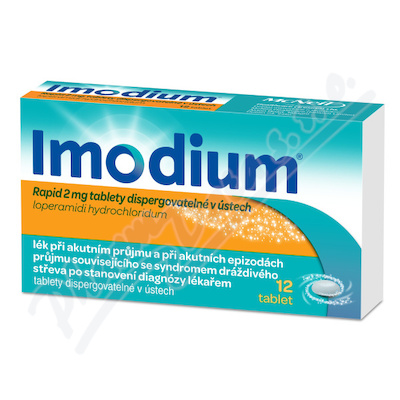 Imodium Rapid 2mg 12 dispergovatelných tablet