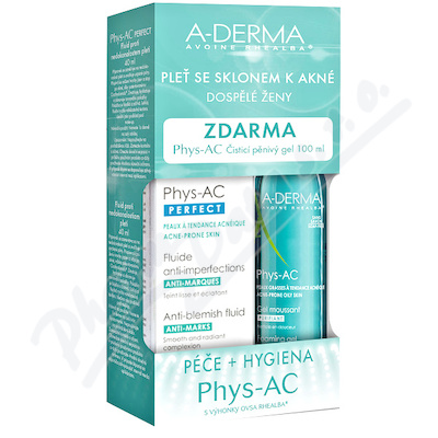 A-DERMA Phys-AC Perfect 40ml+ čist.gel 100ml