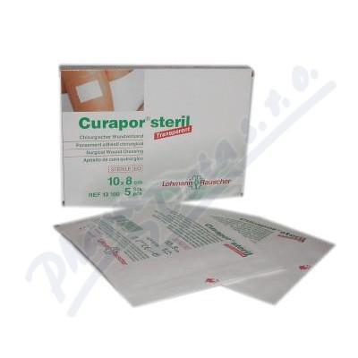 Náplast Curapor Transparent steril.10x8cm-5ks