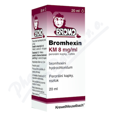Bromhexin 8 KM kapky 20ml 8mg/ml