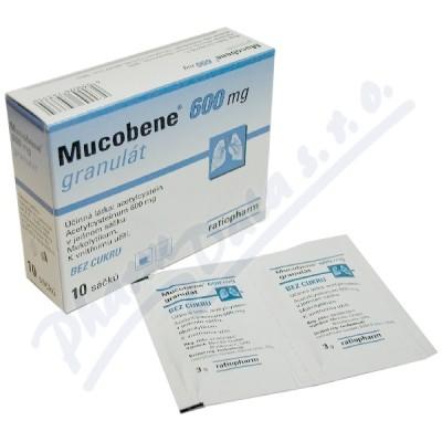 Mucobene 600mg granule pro přípravu roztoku 10x3gm/600mg