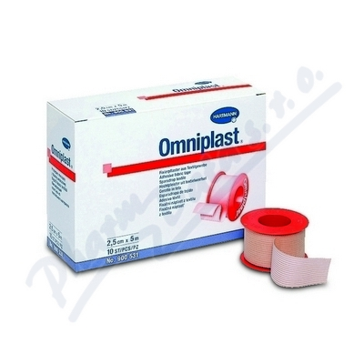 Náplast Omniplast textilní 5cmx5m 1ks