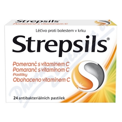 Strepsils Pomeranč s vitamin.C  24pastilek