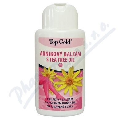 TOP GOLD Arnikový balzám s Tea Tree Oil 200ml