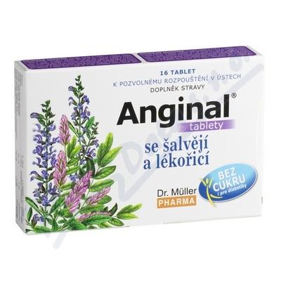 Anginal tablety se šalvějí+lékořicí 16 tablet