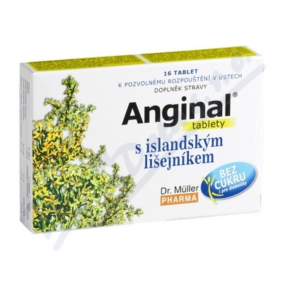 Anginal tablety s island.lišejníkem 16 tablet