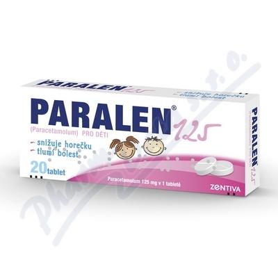 Paralen pro děti 125mg 20 tablet