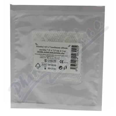 Krytí sterilní-mastný tyl 7.5x7.5cm-1ks Steriwund