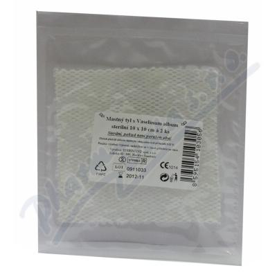 Krytí sterilní-mastný tyl 10x10cm-2ks Steriwund