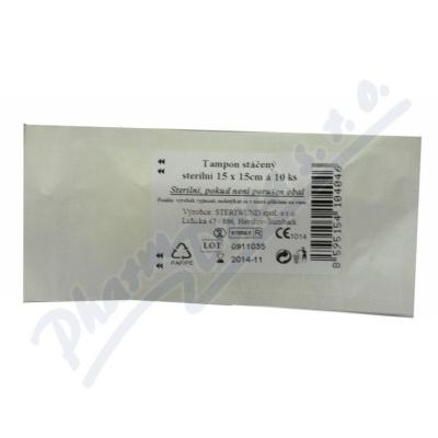 Tampón stáčený z gázy steril. 15x15-10ks Steriwund